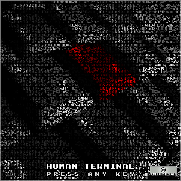Human Terminal – »Press any Key« (Rec72 Netlabel)