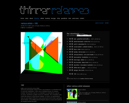 Listen to Happy Birthday! Thinner Netlabel Relaunch plus 100th Release